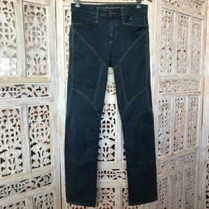 9.2 By Carlo Chionna Blue Geometric Soft Jeans 30